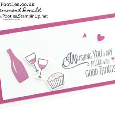 Narrow Notecard using Stampin' Up! Picnic Basket & Picnic With You Framelits