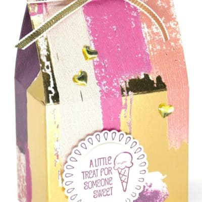 Treat Friday Flat Wide Milk Carton Tutorial using Painted With Love
