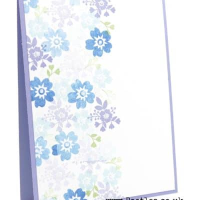 Bloomin' Love by Stampin' Up! Repetitive Stamping Glittery Card