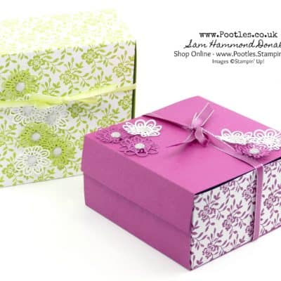 Extra Huge Fold Flat Box Tutorial using Stampin' Up! Fresh Florals