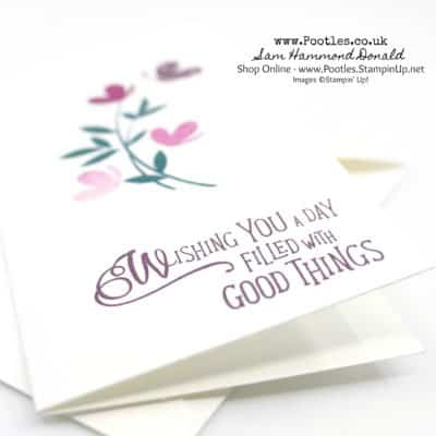 Shimmery Picnic With You Narrow Notecard Customer Thank You Cards
