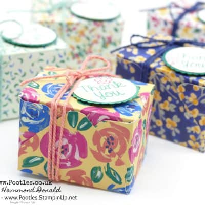 Triple Yankee Candle Tea Light Favours using Garden Impressions