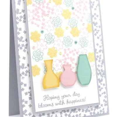 Varied Vases Floral Card and Soft Pastels