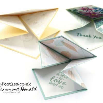 Easy Fold Diamond Triangular Card Tutorial