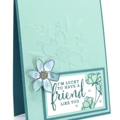Love What You Do & Lovely Floral Embossing Folder