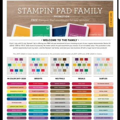 The Amazing Stampin' Up! Joining Offer is coming to an end soon….