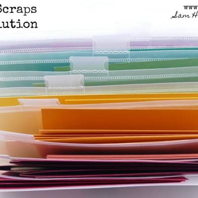Cardstock Scraps Storage Solution