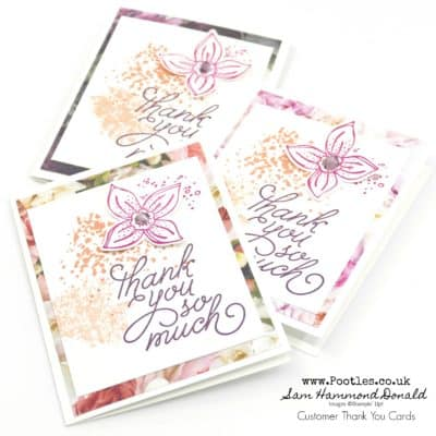 Customer Thank You Cards with Petal Promenade, Artisan Textures, Pop of Petals