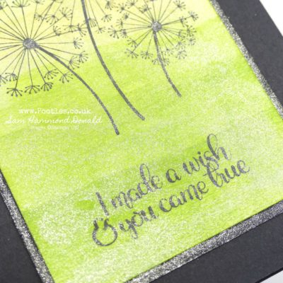 Dandelion Wishes with Ombre Sponging and Glittery Overlay