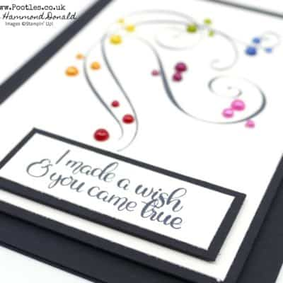 Stylish Christmas meets Dandelion Wishes and Stampin' Blends in a Rainbow!
