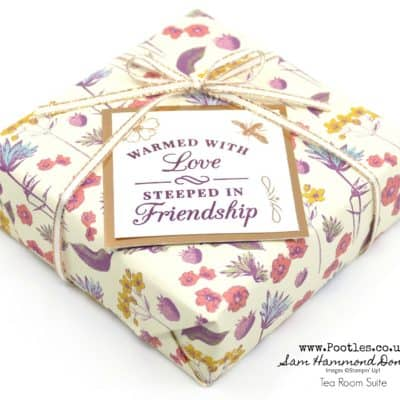 Stampin' Up! Tea Room Suite Wrapping Paper Ideas