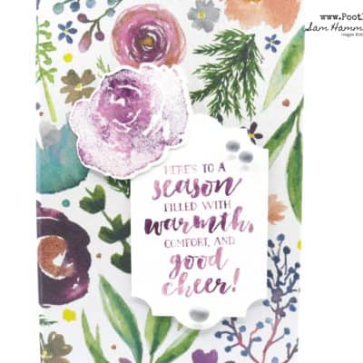 Stampin' Up! Frosted Floral Baby Wipe Technique