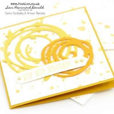 Happy Birthday Gorgeous Swirly Bird 3×3 Card and Envelope