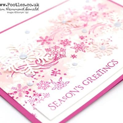 Pootlers Team Blog Hop – Beautiful Blizzard in Pinks!