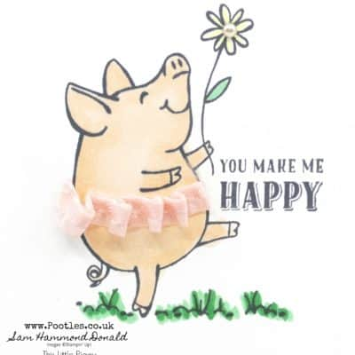 This Little Piggy with Stampin' Blends and a Tutu!