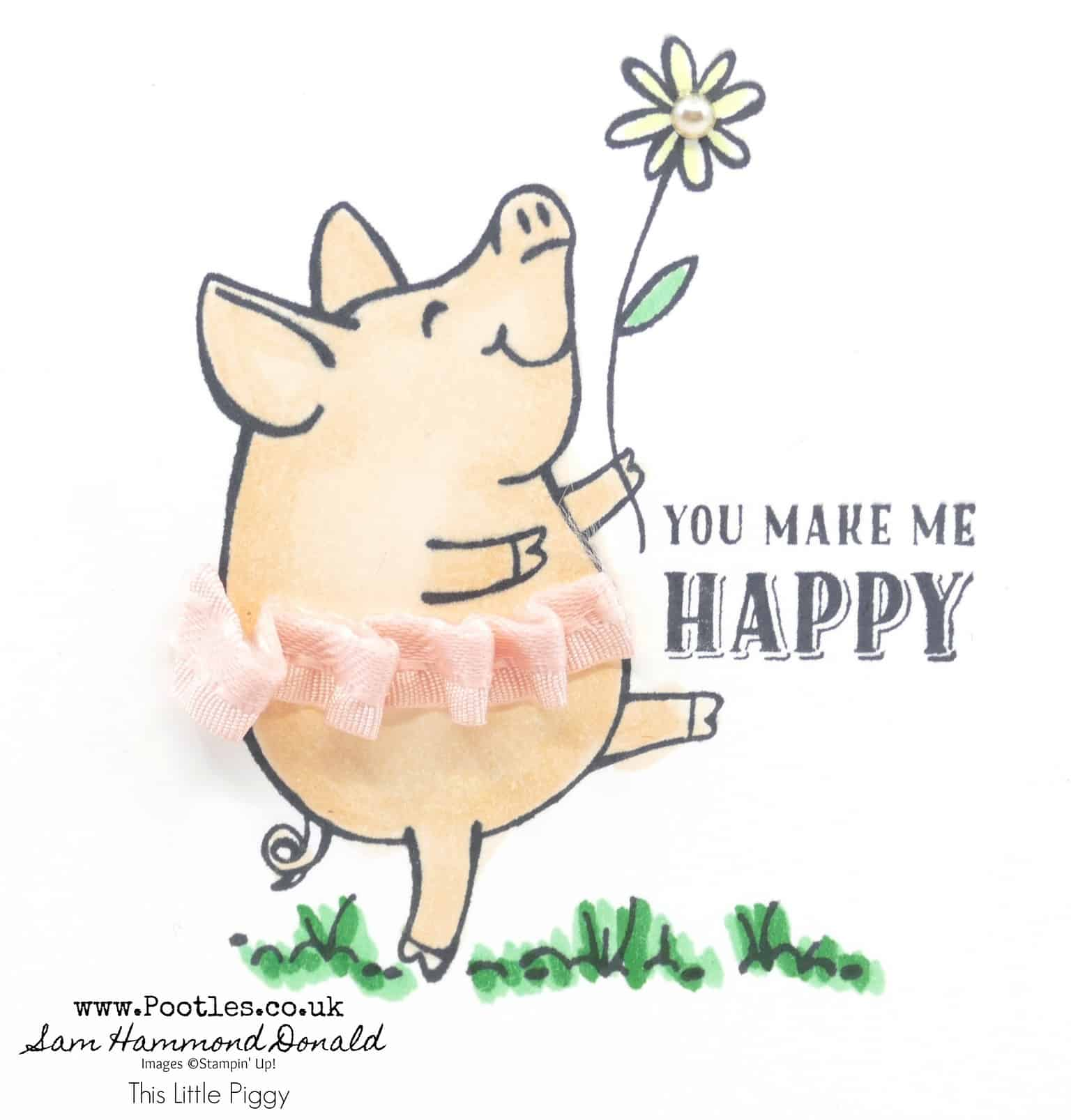 1 stampin up demonstrator pootles this little piggy with stampin