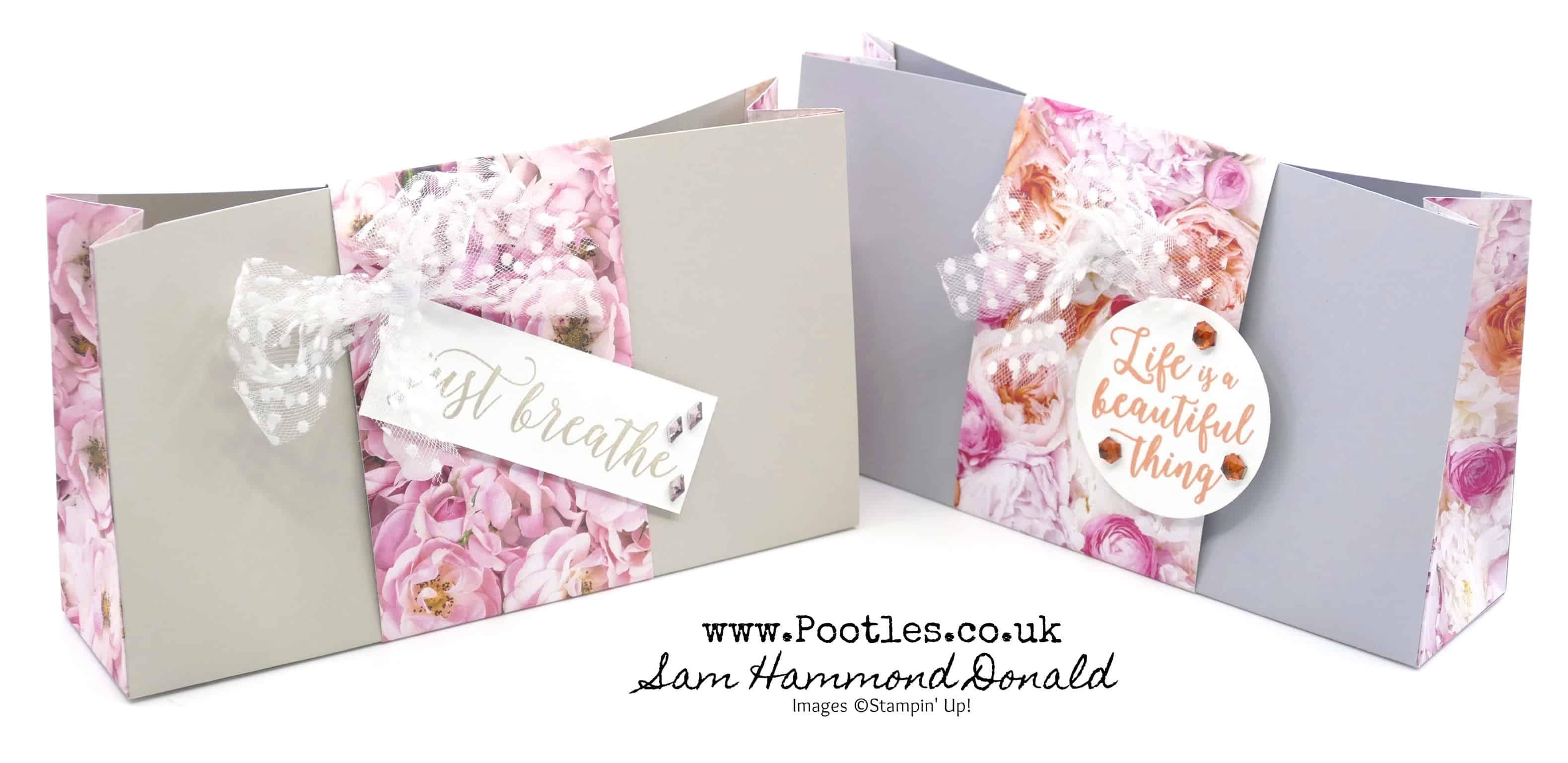 petal promenade card and paper bag tutorial