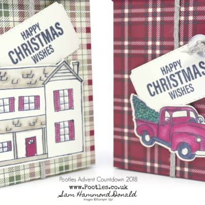 Pootles Advent Countdown 2018 #4 Festive Farmhouse Lidded Rectangular Box Tutorial