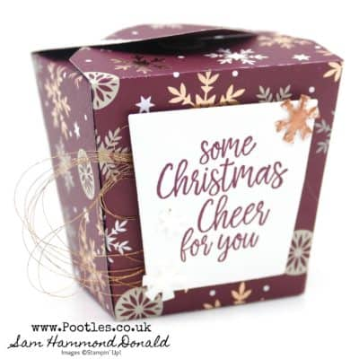 Take Out Treats Thinlits Box with Joyous Noel And Copper Shimmer Painted Elements