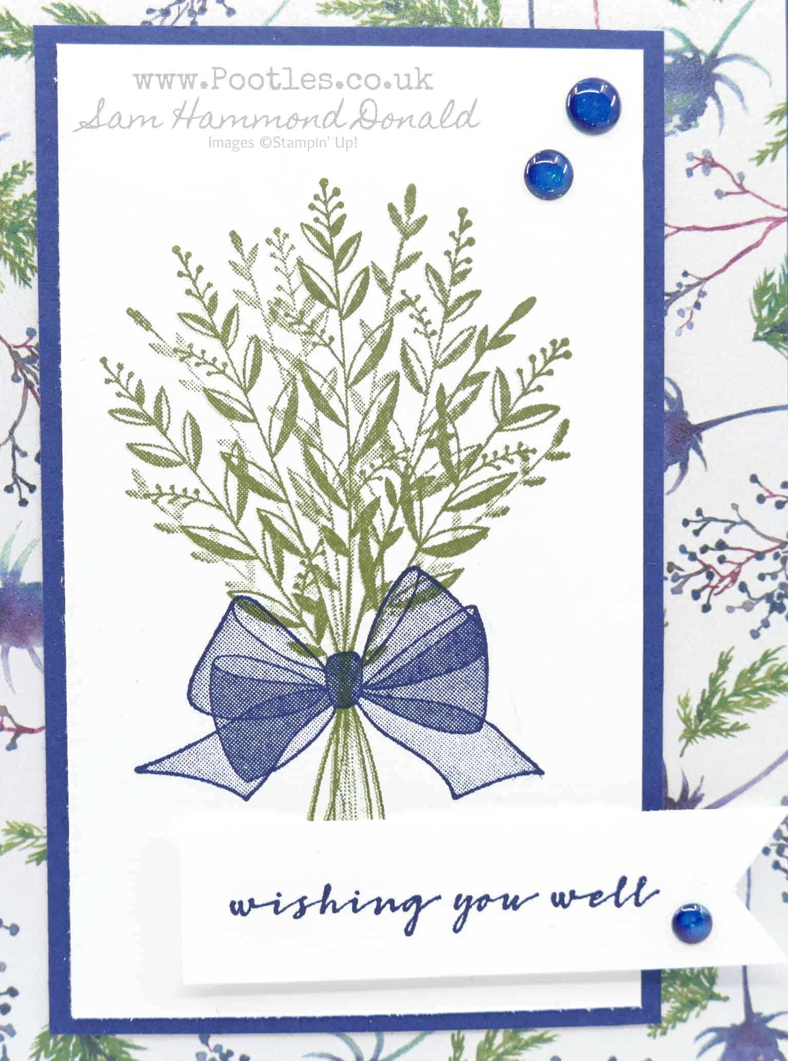 Card: lovely as a tree thank you | stampin up demonstrator tami.