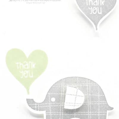 Adorable Elephant Builder Thank You Cards