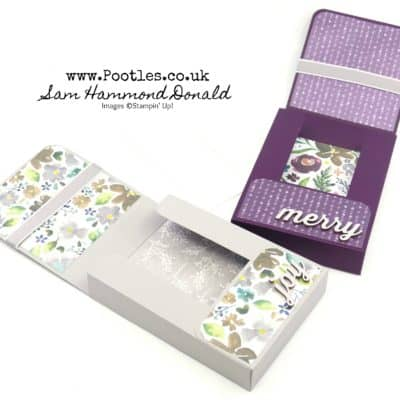Frosted Florals Note Card Box Tutorial