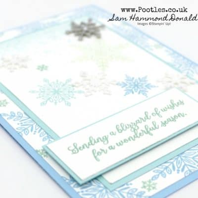 Snow is Glistening with Beautiful Blue Snowflake Showcase