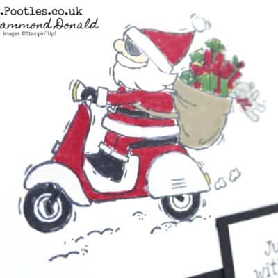 So Santa. On A Scooter? Why Not!