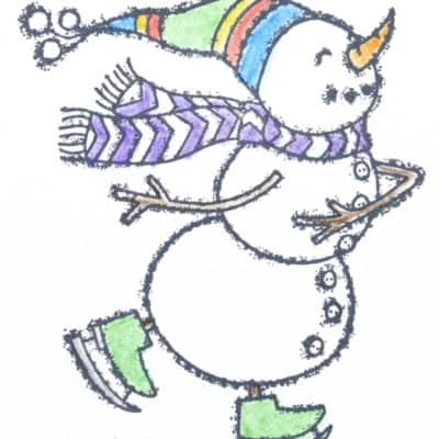 Spirited Snowmen with Watercolour Pencils