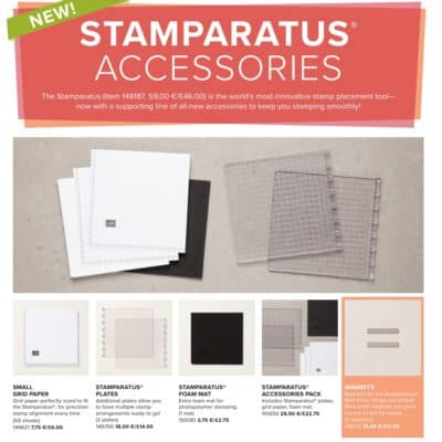 World Card Making Day, Stamparatus Accessories, New Promotion for New Demos, and an oops update!
