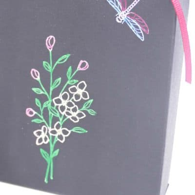 Beautiful Gift Bag with Black Magic Technique