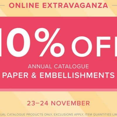 Stampin' Up! Online Extravaganza Sale #1 ends very very soon