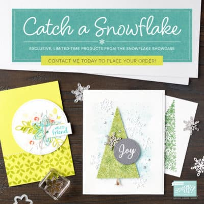 Stampin' Up! Snowflake Showcase Limited Edition is ending tonight