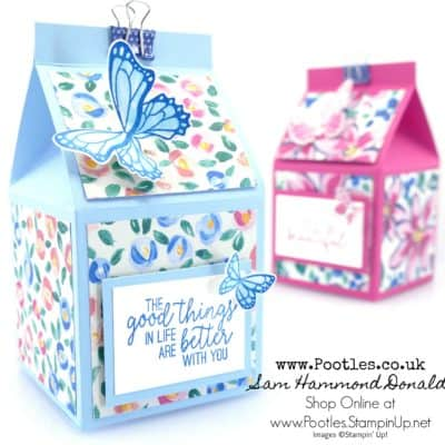 Pretty Floral 2.5″ Milk Carton Tutorial using Garden Impressions