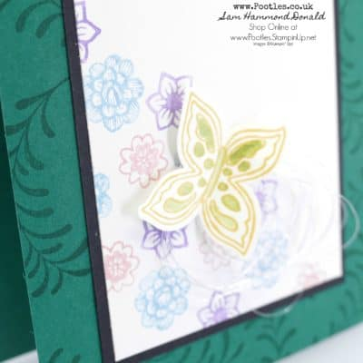 Pretty Floral Card with Pop of Petals and Four Petal Flower Punch