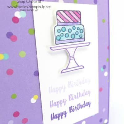 Piece of Cake and Cake Builder Punch Ombre Watercolour Card
