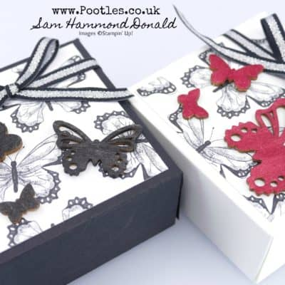 SpringWatch 2019 Botanical Butterfly Box for 3×3 Cards and Handmade Soaps
