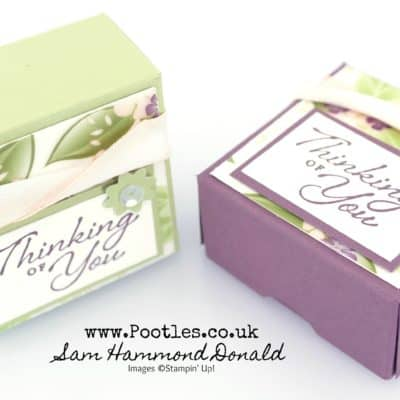 SpringWatch 2019 Floral Romance Vellum Favour Box Tutorial
