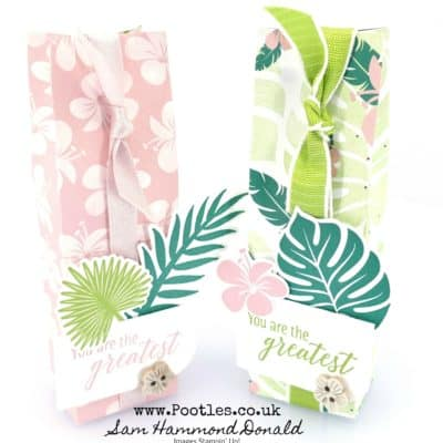 Tropical Chic bag for Body Shop or L'Occitane Hand Cream