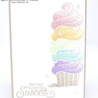 Rainbow Stacked Die Cut Cupcakes