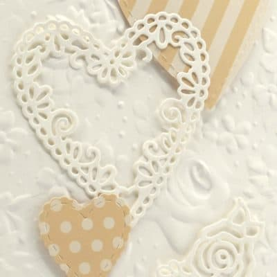 Country Floral Embossing Folder Carryover with Be Mine Framelits