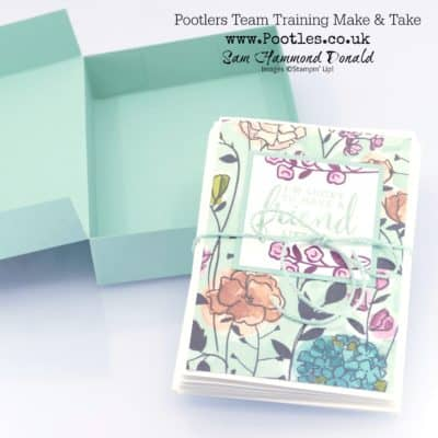 Pootlers Team Training Notecard Box Holder
