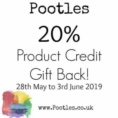Pootles 20% Product Credit Gift Back