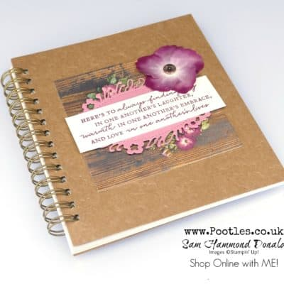 Pressed Petals Quick Journal Decoration