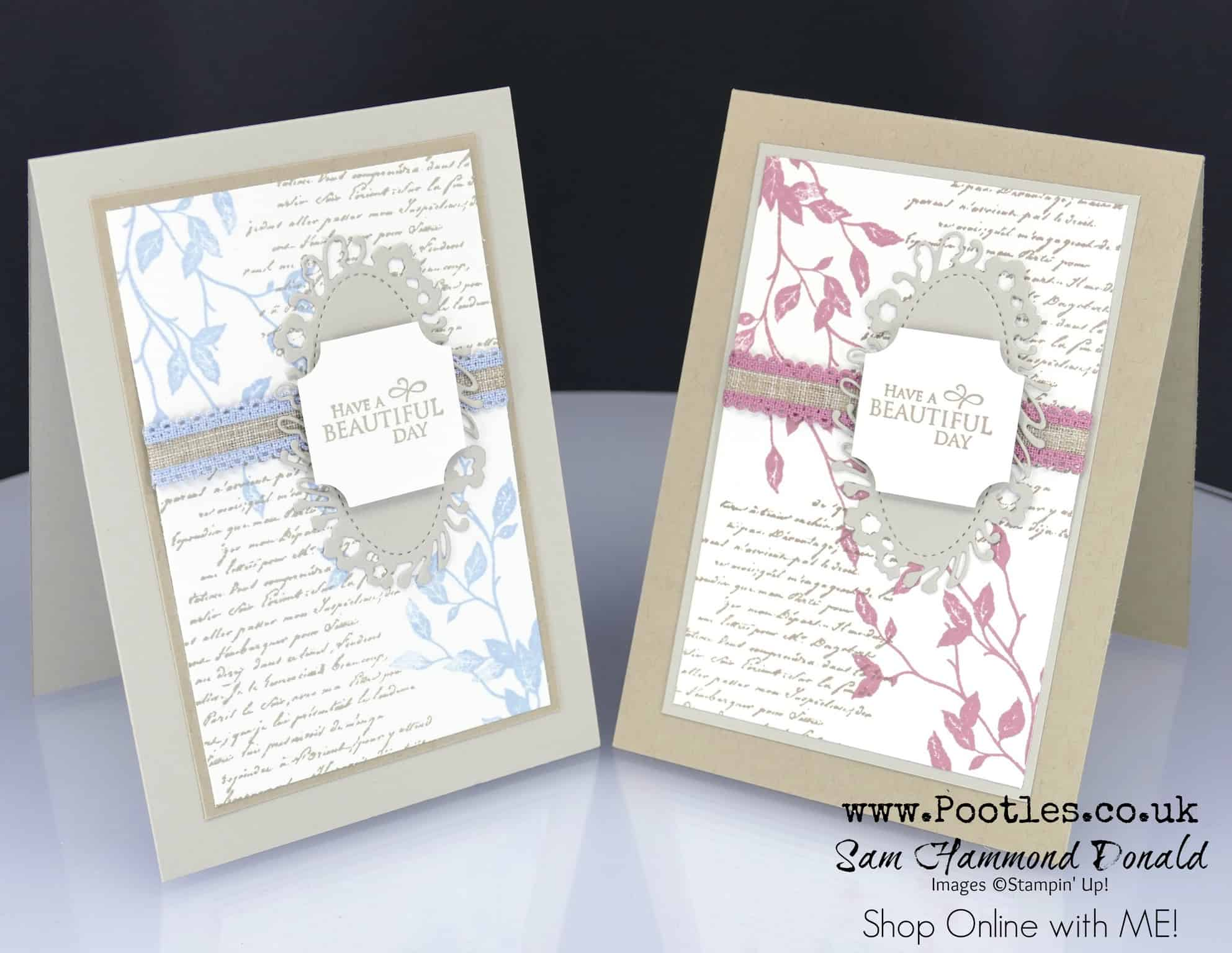 Stampin' Up! #1 Demonstrator Pootles – Very Versailles, casing the
