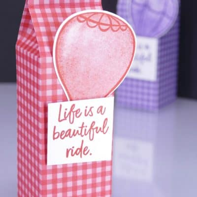 Above the Clouds 6×6 Milk Carton Balloon Box