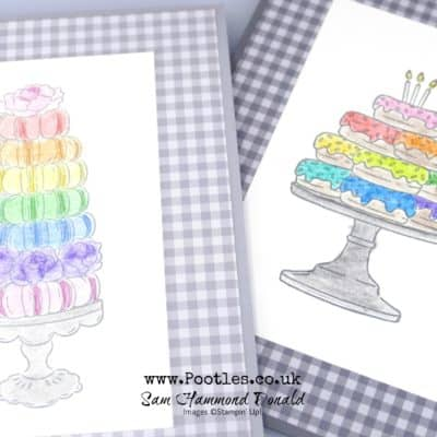 Birthday Goodness with Watercolour Pencil Rainbows
