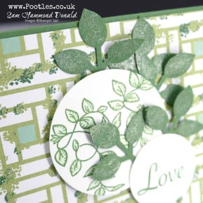Verdant Garden Lane and pretty glittery Leaf Punch Detail