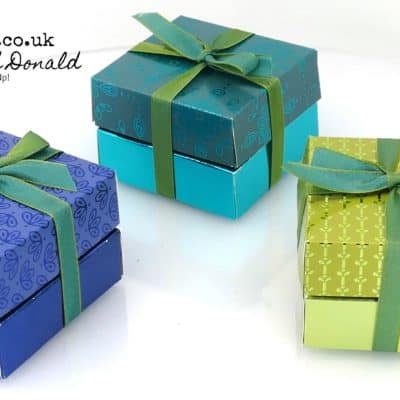 Noble Peacock Double Stack Box Tutorial