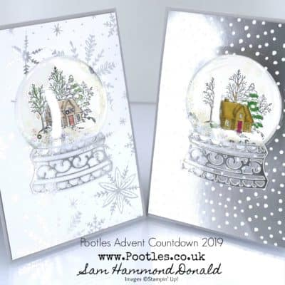 Pootles Advent Countdown 2019 #2 Still Scenes Shaker Globe Tutorial